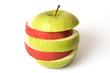 Grüner zerschnittener Apfel