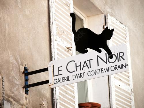 Photo  Black cat sign in Montmartre, Paris
