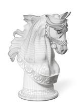 3D Model Of A Horse Head