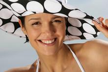 Woman In A Polka Dot Hat