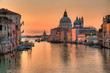 Santa Maria Della Salute, Church of Health in dusk twilight - sunrise at Grand Canal Grande Venice Italy