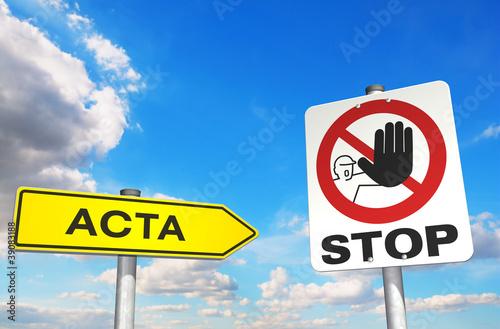 Fotografie, Obraz  Stop ACTA