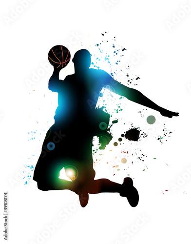 Photo  Abstract Basketball Player
