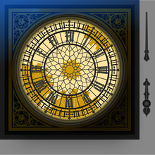 Quadrant Of Macical Victorian Clock With Lancets