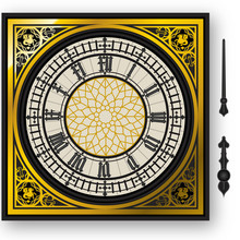 Quadrant Of Victorian Clock Wi...