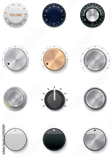 Fotomural  Vector knobs set