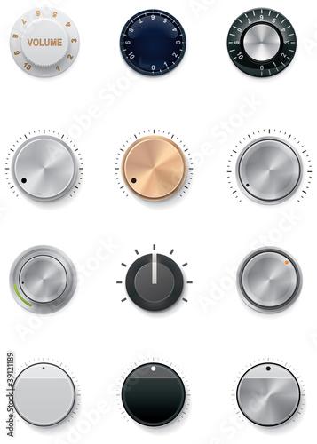 Photo Vector knobs set