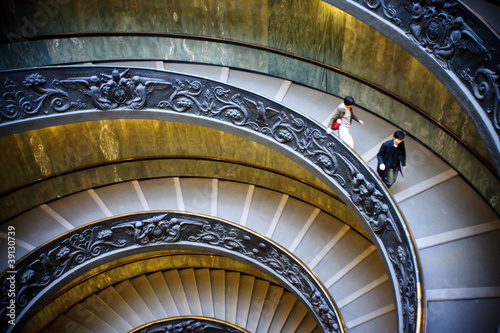 Wall Murals Spiral stairs of the Vatican, Rome.