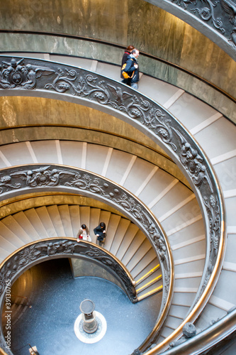 Foto op Plexiglas Trappen Spiral stairs of the Vatican, Rome.