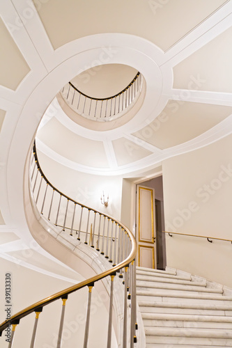 Photo Stands Stairs Stairwell in Warsaw Royal Castle - World Heritage List - UNESCO.