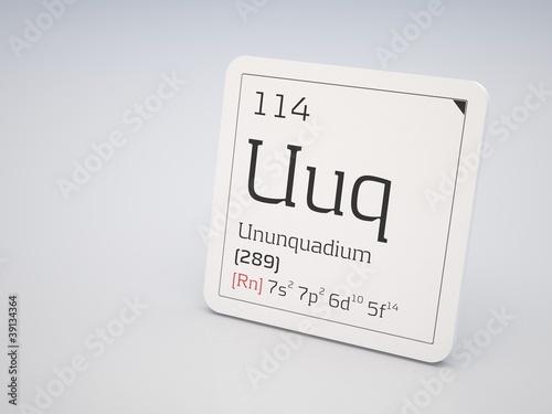 Poster  Ununquadium - element of the periodic table