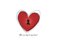 Red Heart Key Hole