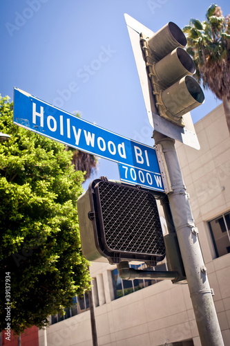 Photo  Hollywood boulevard sign