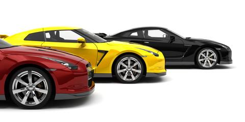 Samochody sportowe - widok z boku
