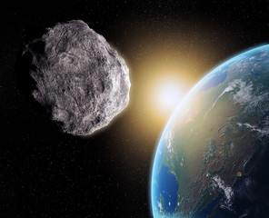 Obraz na Szkle Kosmos Asteroid near Earth