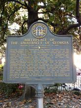 Birthplate University Of Georgia Placard