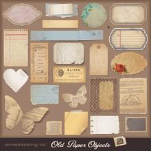 Digital Scrapbooking Kit: Aged...