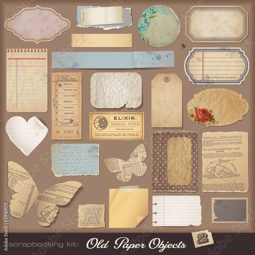 Keuken foto achterwand Vlinders in Grunge digital scrapbooking kit: aged paper objects (2)