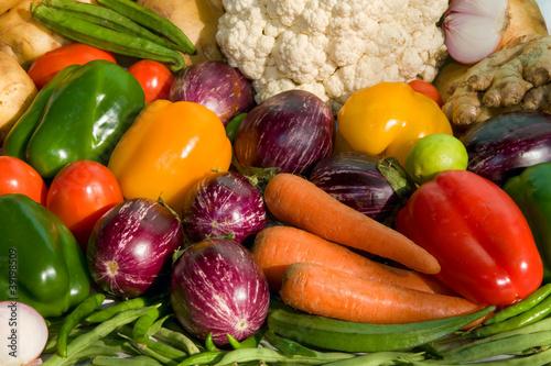 Fotobehang fresh vegetables