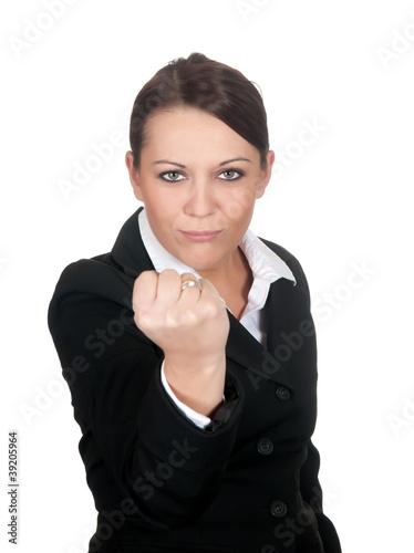 Photo  aggressive geschäftsfrau