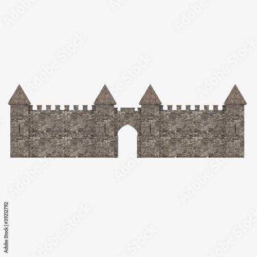 Fotografia 3d render of medieval rampart