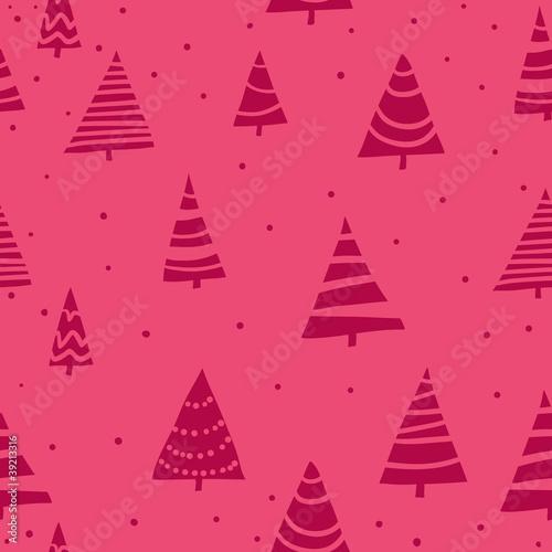Fototapety, obrazy: Stylish bright Christmas seamless pattern