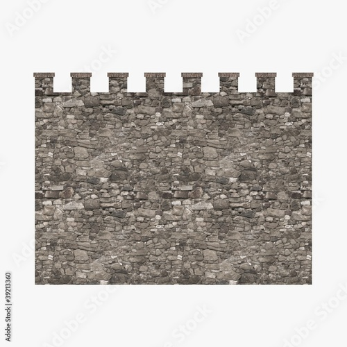 Photo 3d render of medieval rampart