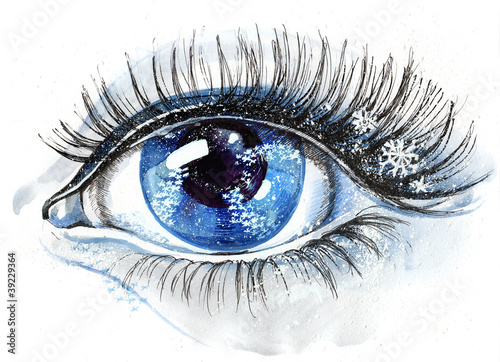 eye with snowflakes (series C)