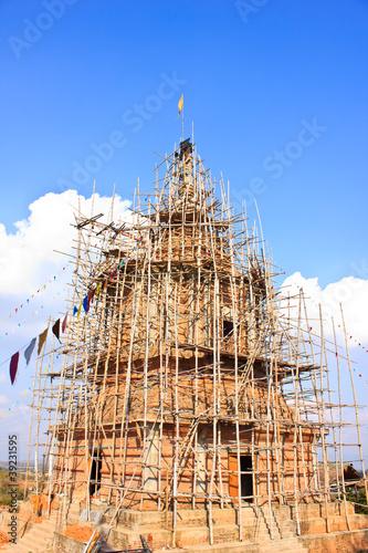 Construction of the pagoda.