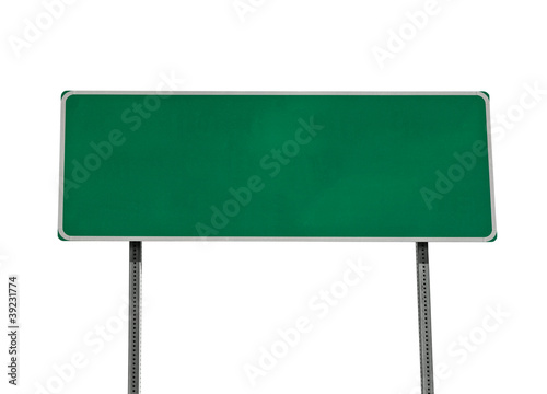 Green Highway Sign Isolated