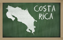 Outline Map Of Costa Rica On B...