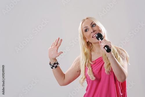 Fotografering  Sängerin