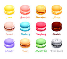 French Macaron Cookies With Di...