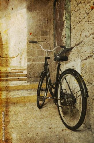Plakaty rowery  uliczka-z-rowerem