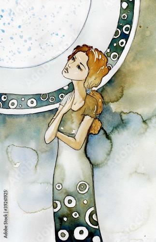 Poster Inspiration painterly wpatrzona w niebo