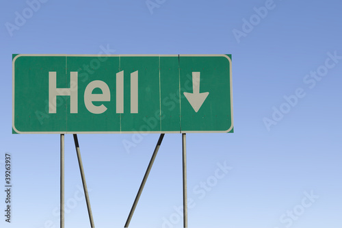 Платно Hell with arrow pointing down