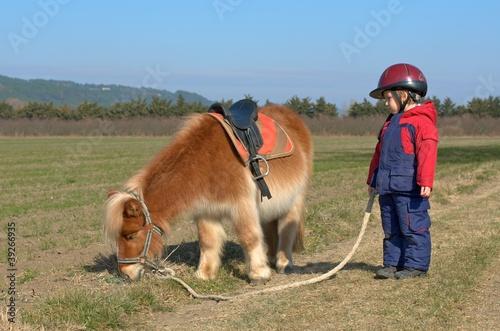 Carta da parati boy and pony