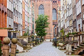 Panel Szklany Podświetlane Miasta Mariacka Street in Gdansk