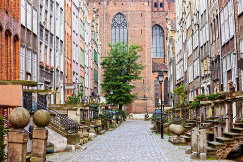 Obraz Ulica Mariacka w Gdańsku - fototapety do salonu