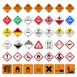 Leinwanddruck Bild - icon set dangerous good VI