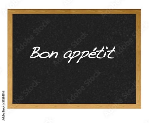 Canvas-taulu Bon appétit.