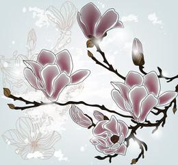 Naklejka Na szybę magnolia branch