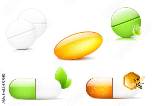 Stampa su Tela Capsules and Pills