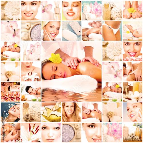 Obrazy do salonu kosmetycznego  spa-masaz-kolaz-tlo