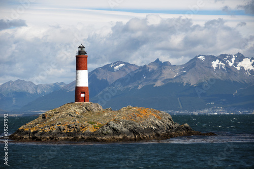 Garden Poster Lighthouse lighthouse - in the Beagle Channel Patagonia Argentina