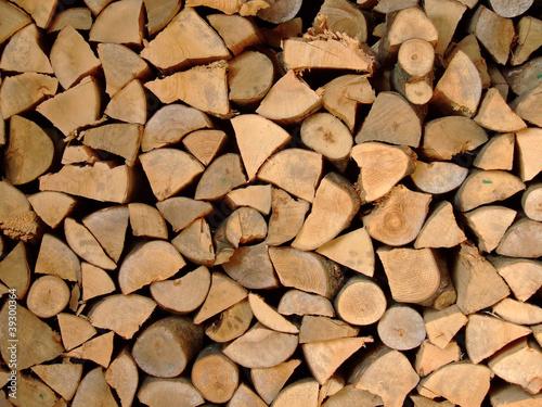 Aluminium Prints Firewood texture Stacked Logs