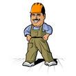 Cartoon builder man