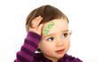 canvas print picture - Kleinkind mit  einem Pflaster
