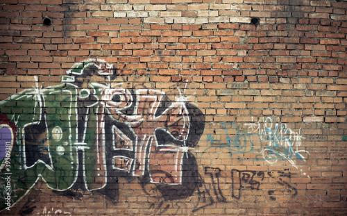 Poster de jardin Graffiti Graffiti wall