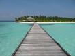 Ponton aux maldives